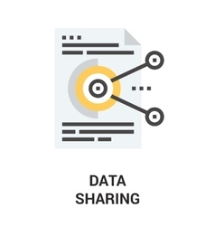 Data sharing icon vector
