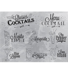 Cocktails coal vector