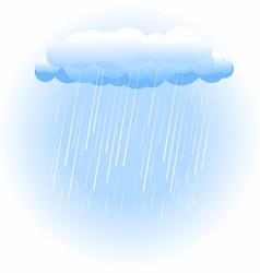 Rain cloud on white vector