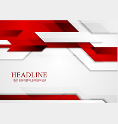 Red shiny hi-tech abstract motion background vector