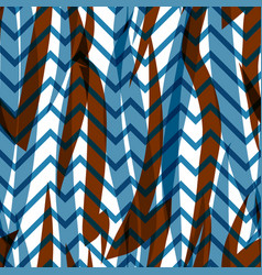 Geometric abstract seamless pattern linear zigzag vector