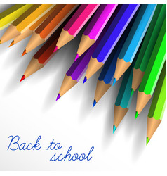 Back to school poster with crayons vector