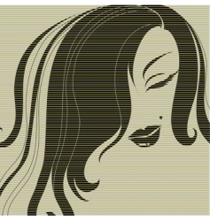 vintage girl silhouette vector image