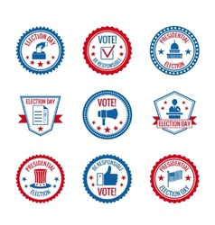 Elections labels set vector