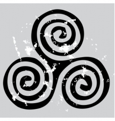 Celtic spiral vector