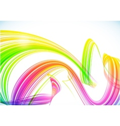 Abstract rainbow stripes shining background vector