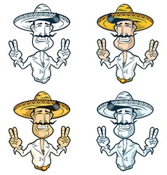 Mexican man in a sombrero vector