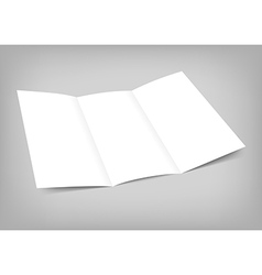 Blank tri fold paper flyer on gray vector