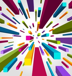 flying cubes background vector image