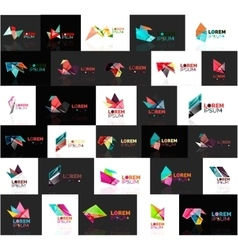 Triangle geometric shapes set of abstract logos vector