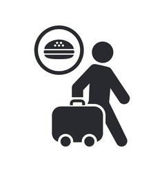 Food travel icon vector