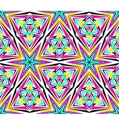 Bright kaleidoscope star pattern vector