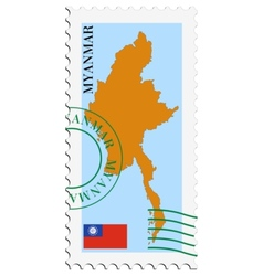 Mail to-from myanmar vector