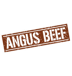 Angus beef square grunge stamp vector