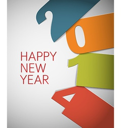 Colorful happy new year 2014 card vector