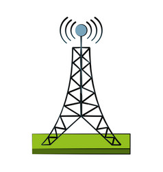 communication antenna symbol vector image vector image
