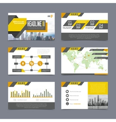 Company presentation templates set vector