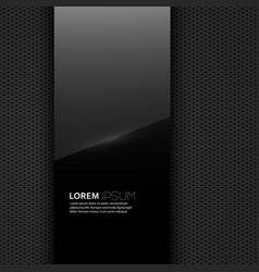 Dark glossy blank with a background texture vector image vector image