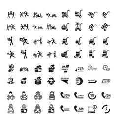 Delivery icon 64 item design vector