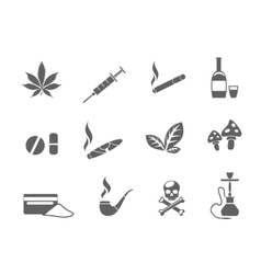 Drug icons set vector image