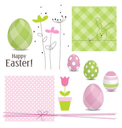 Easter design elements vector image