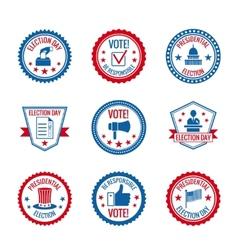 Elections labels set vector