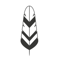 feather isolated icon design vector image