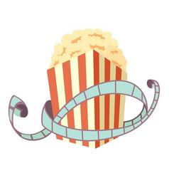 Film and popcorn icon cartoon style vector