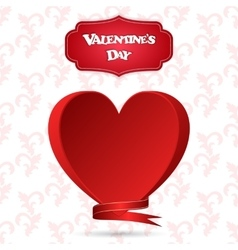 Gift card with a red heart tag and the inscription vector