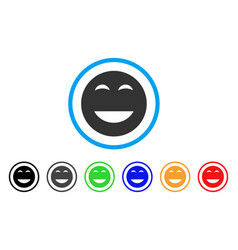 Glad smiley icon vector