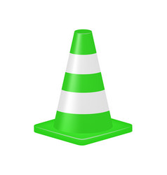 Green traffic cone vector