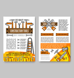 home repair tool and equipment sketch poster vector image vector image