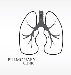 Human lungs vector image vector image