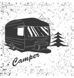 Lettering travel typographic camp calligraphy vector