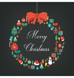 Merry christmas greeting card christmas design vector