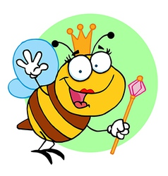 Queen bee cartoon vector