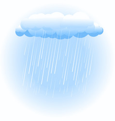 Rain cloud on white vector