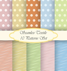 Retro background set made of dots and horizontal vector image