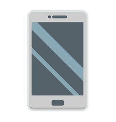 Smartphone flat icon phone and touch screen vector