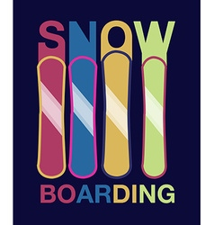 Snowboard -hand drawn sport typography poster vector