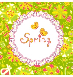 Spring flowers spring background vector