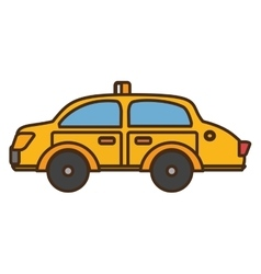 taxi vehicle service public isolated icon vector image vector image