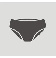 Underpants icon vector