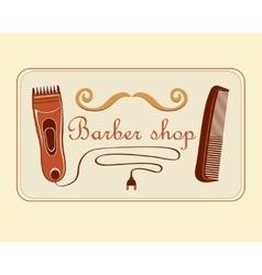 Vintage Barber Shop Label vector image vector image