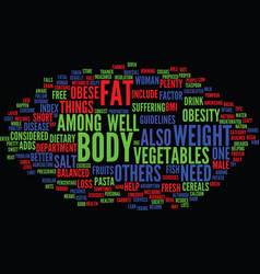 You obesity and weight loss text background word vector