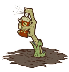 zombie drawing graffiti vector image
