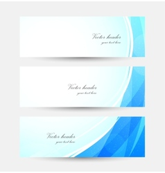 Set of blue bright banners vector image
