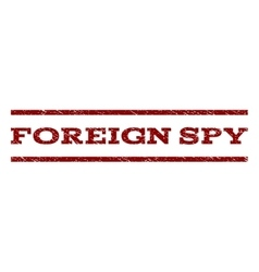 Foreign spy watermark stamp vector