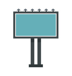advertising billboard icon flat style vector image