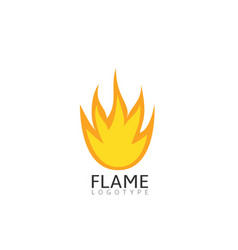Flame symbol vector